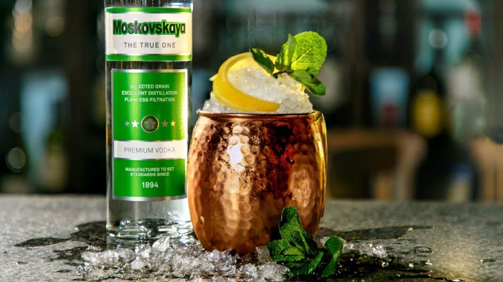 Рецепт коктейля Московский мул на водке Московская Брянскспиртпром