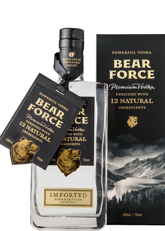 Водка Bear-Forse с медвежьим корнем