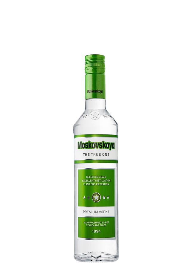 Ассортимент водка Московская зеленая 05 литра Брянскспиртпром