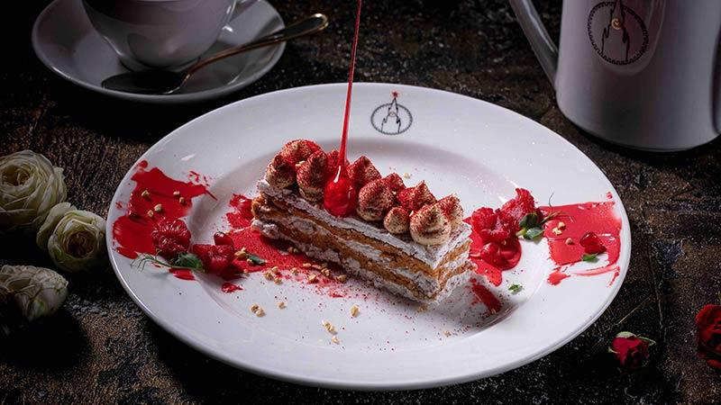 Киевский торт в ресторане Спасский