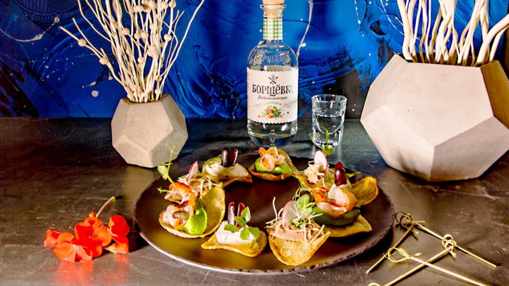блюда меню можно съесть пользуясь двумя пальцами гастрономическая борщевка с холодком БрянскСпиртПром